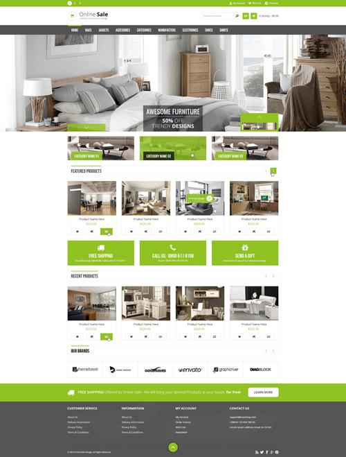 Online Sale - Responsive WordPress Theme