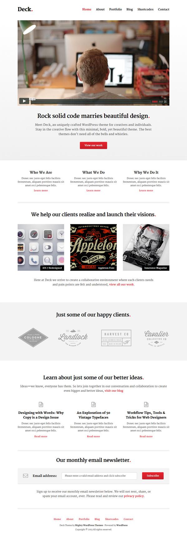 Deck WordPress Theme