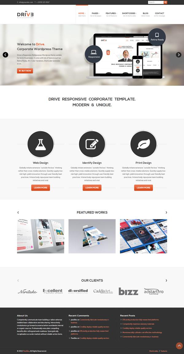 Drive - Multi-Purpose WordPress Theme