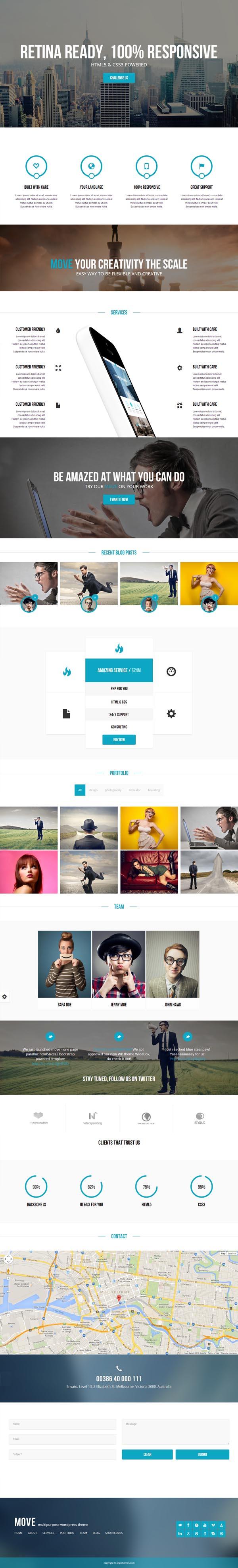 Move - Responsive OnePage Parallax WordPress Theme
