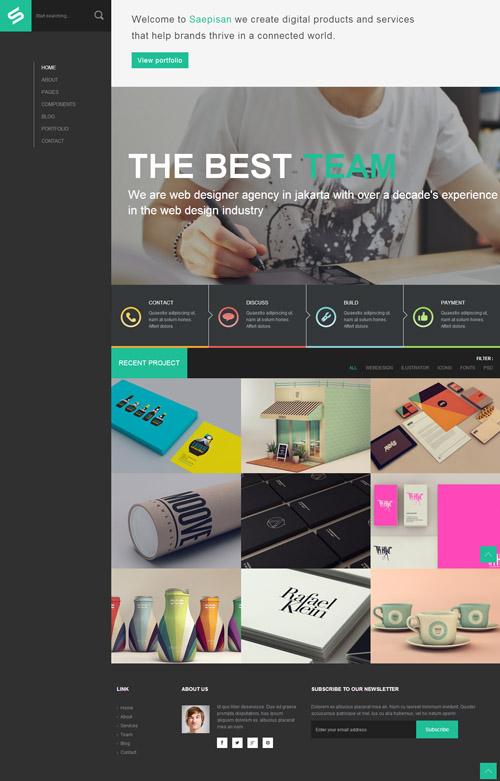 Saepisan creative portfolio html template