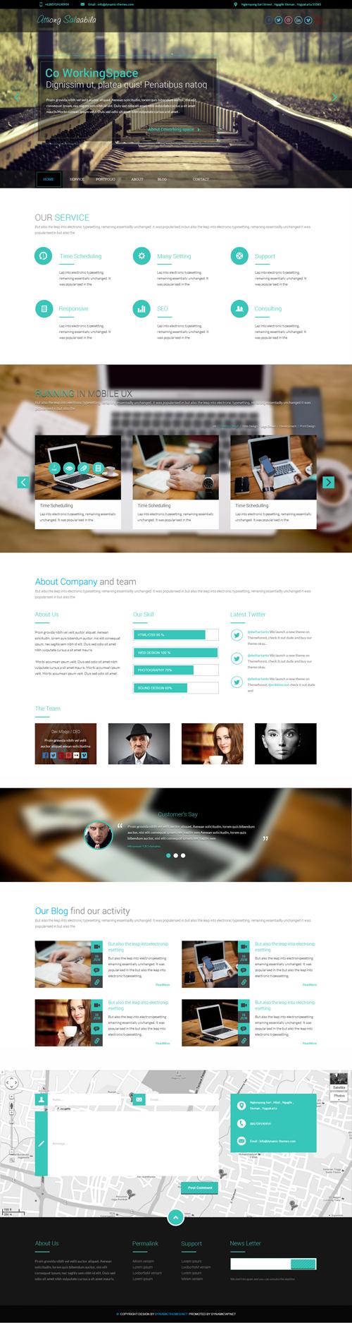 Salsabila - One Page WordPress Theme