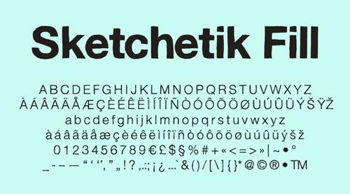 Sketchetik Fill font