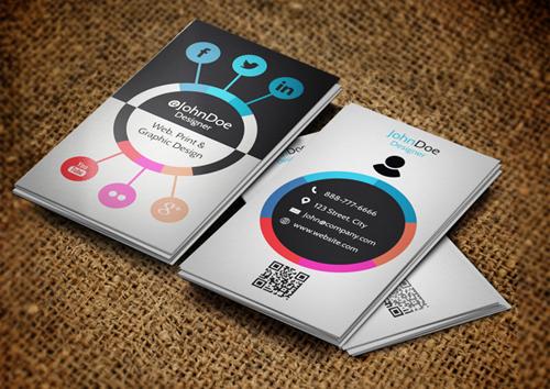 Social websites Business Card