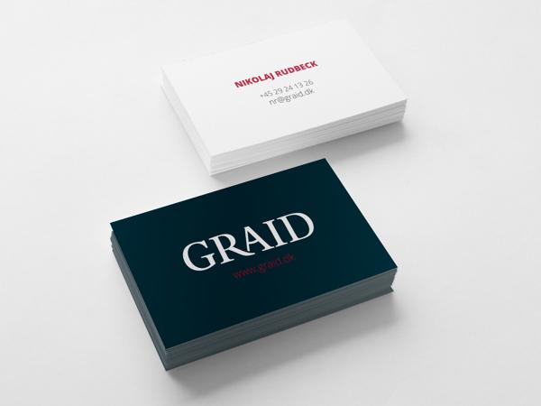 Graid design agency Business Card