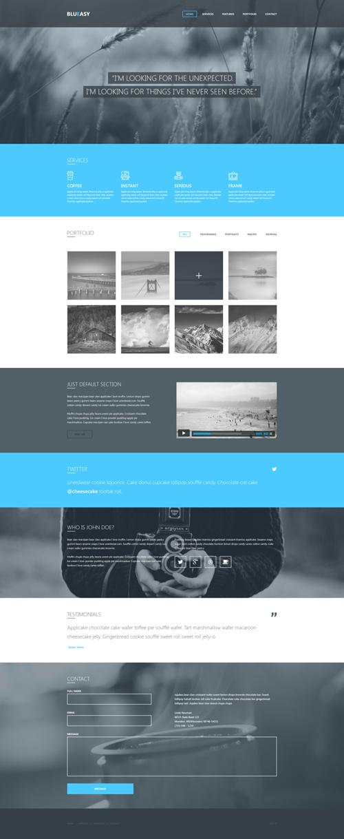 Blueasy - Free PSD Template