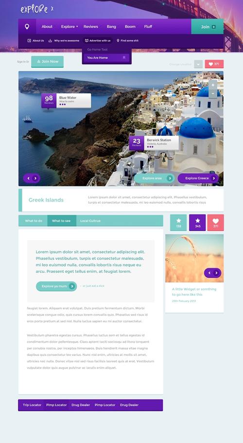 Explore - Free PSD Template