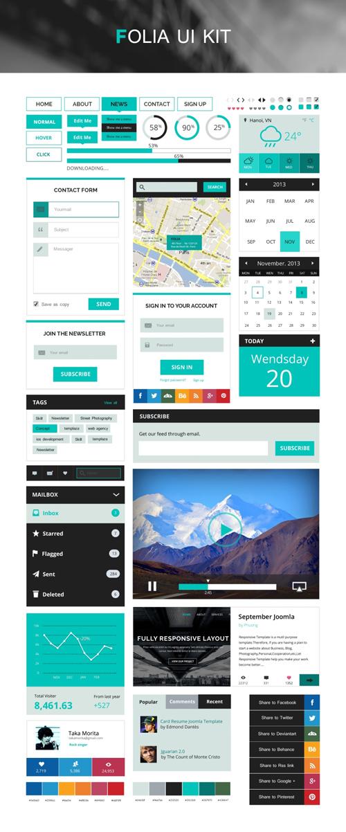 FOLIA - Free UI Kit