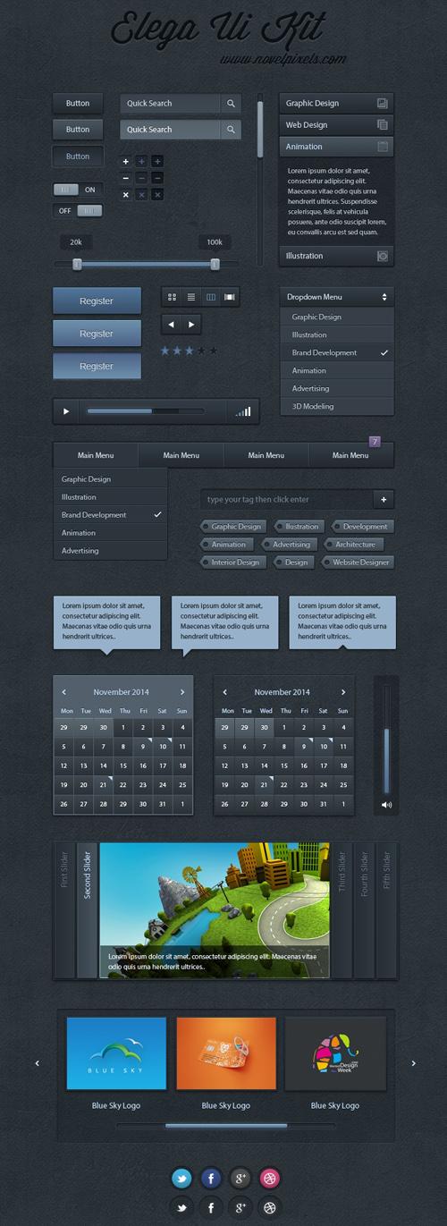Elga - Free UI Kit