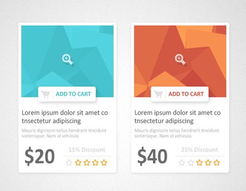Flat Product Showcase Design (PSD)