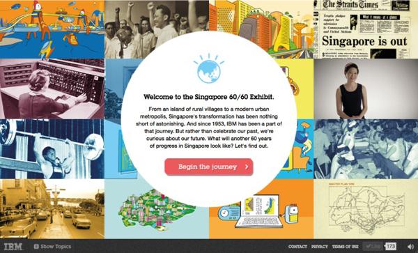 IBM SG 60/60 Exhibit Flat Design Websites