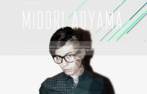 MIDORI AOYAMA Flat Design Websites