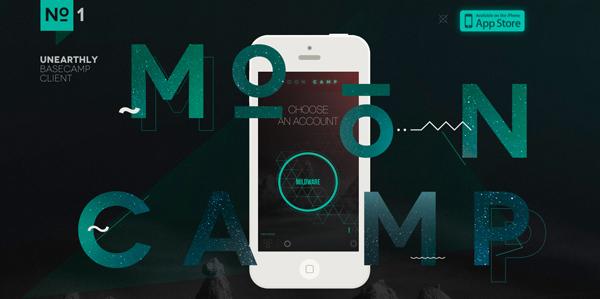 MoonCamp Flat Design Websites