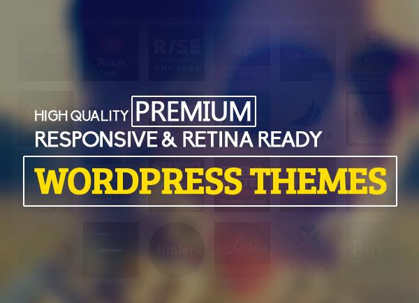 Premium WordPress hemes Responsive Retina-ready