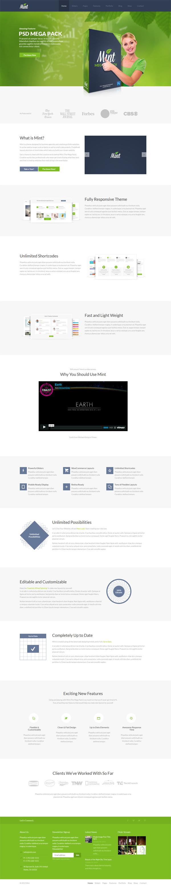 Mint - Responsive Multi-Purpose WordPress Theme