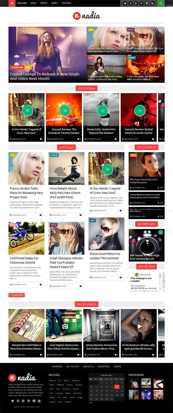 Nadia - Responsive WordPress News Theme