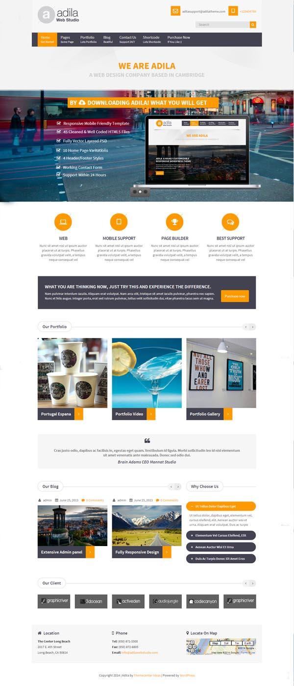 Adila: Multipurpose Business WordPress Theme