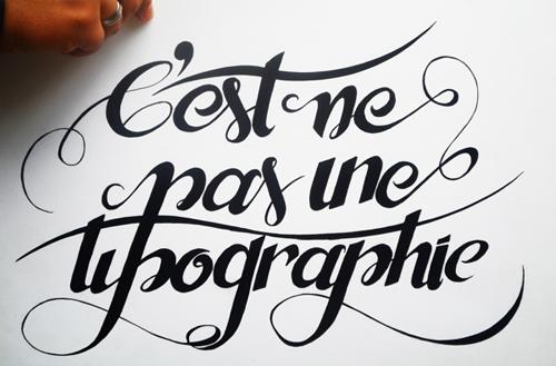 C'est ne pas une tipographie