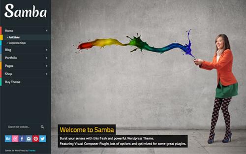 Samba Colored WordPress Theme