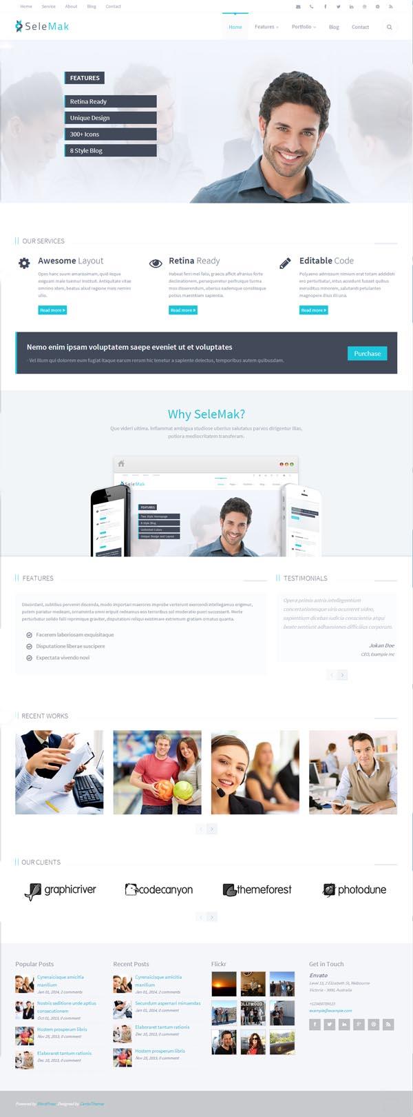 SeleMak - Responsive WordPress Theme