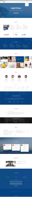 LightDose — Flat and Minimal WordPress Theme