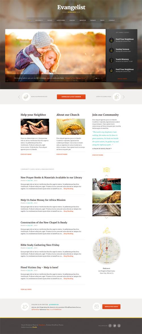 Evangelist - Church WordPress Theme