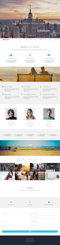 Inesta – Responsive One Page WordPress Theme