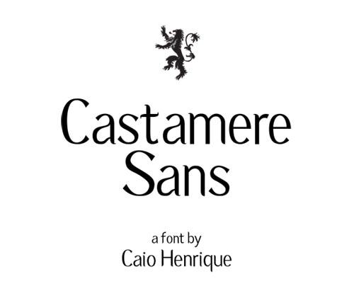 Castamere Sans free font