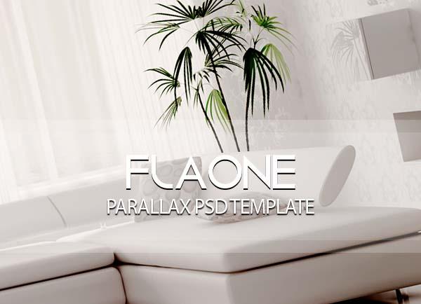 Flaone - Parallax PSD Template