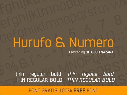 Hurufo & Numero free font