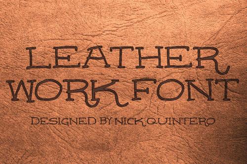 Leatherwork free font