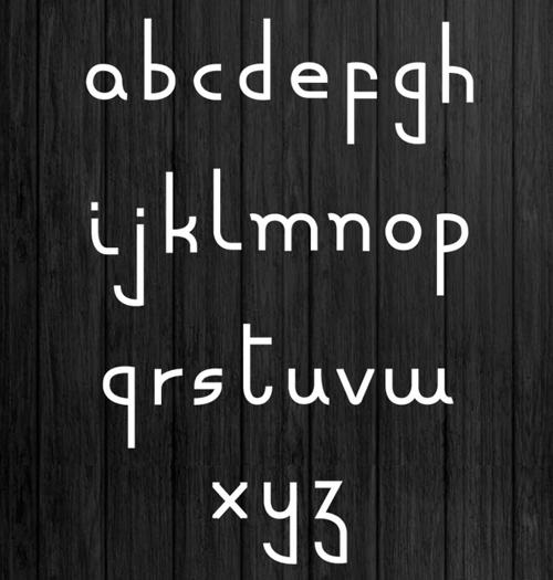 Minuscule free font