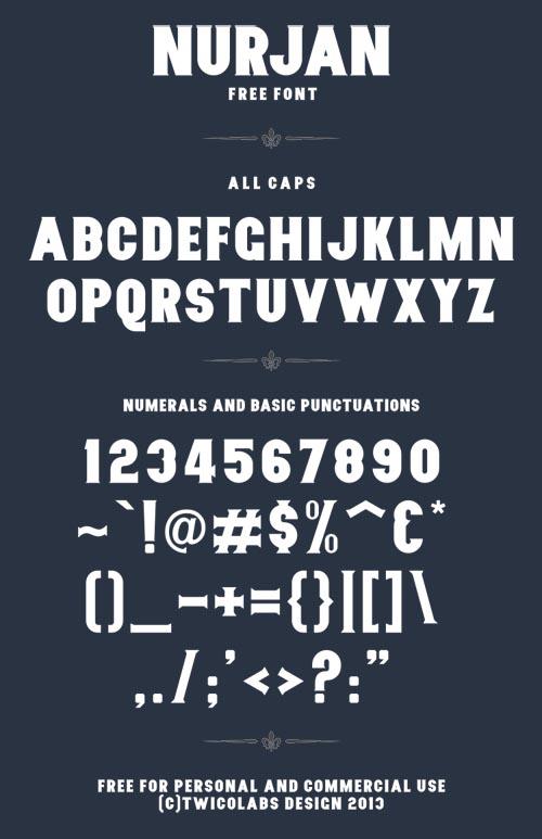 Nurjan free font