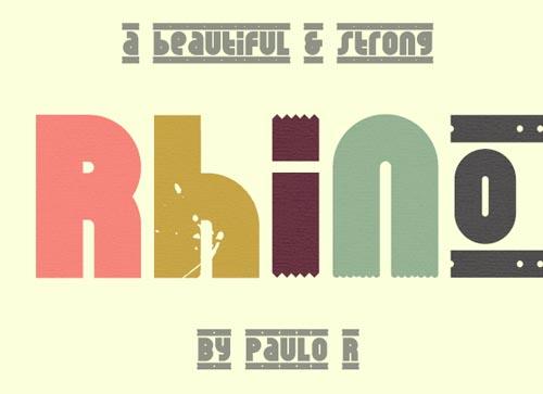 Rhino free font