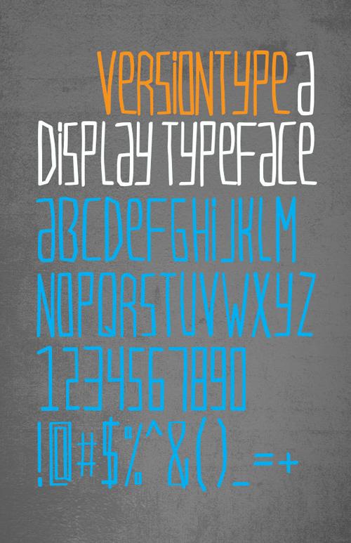 VersionType free font