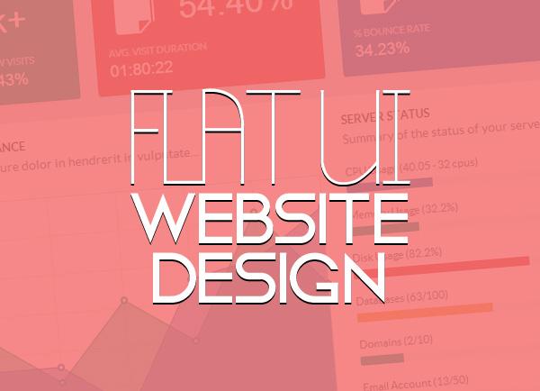 40 New Flat UI Website Design