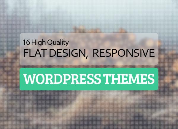 flat design responsive wordpress themes