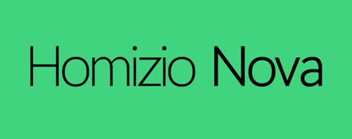Homizio Nova #fontsfordesigners