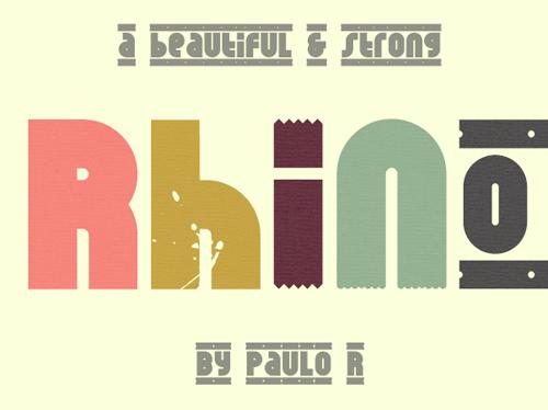 Rhino #fontsfordesigners