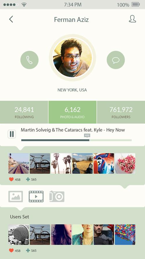 iOS7 App Design UI Designs and Concepts for Inspiration