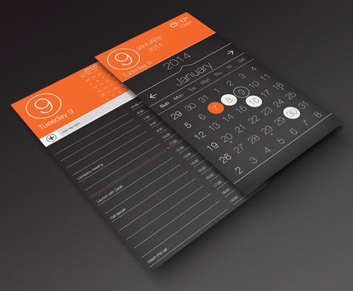 Calendar app UI Designs and Concepts for Inspiration
