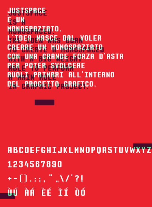 JustSpace #fontsfordesigners