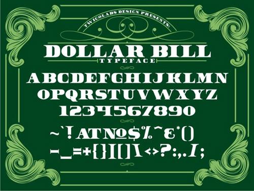 Dollar Bill #fontsfordesigners