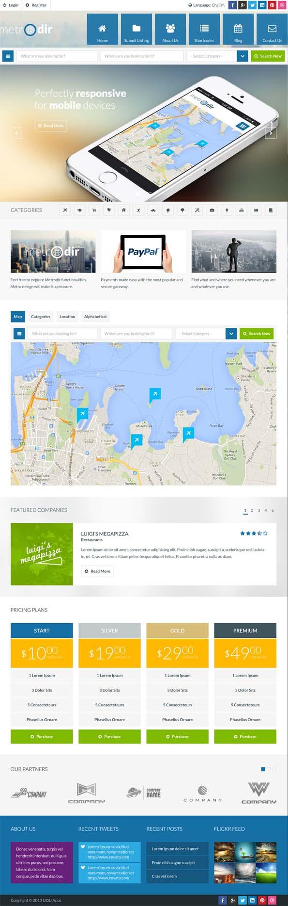 Metrodir - Directory & Listings WordPress Theme