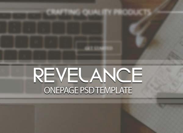 Revelance - OnePage PSD Template