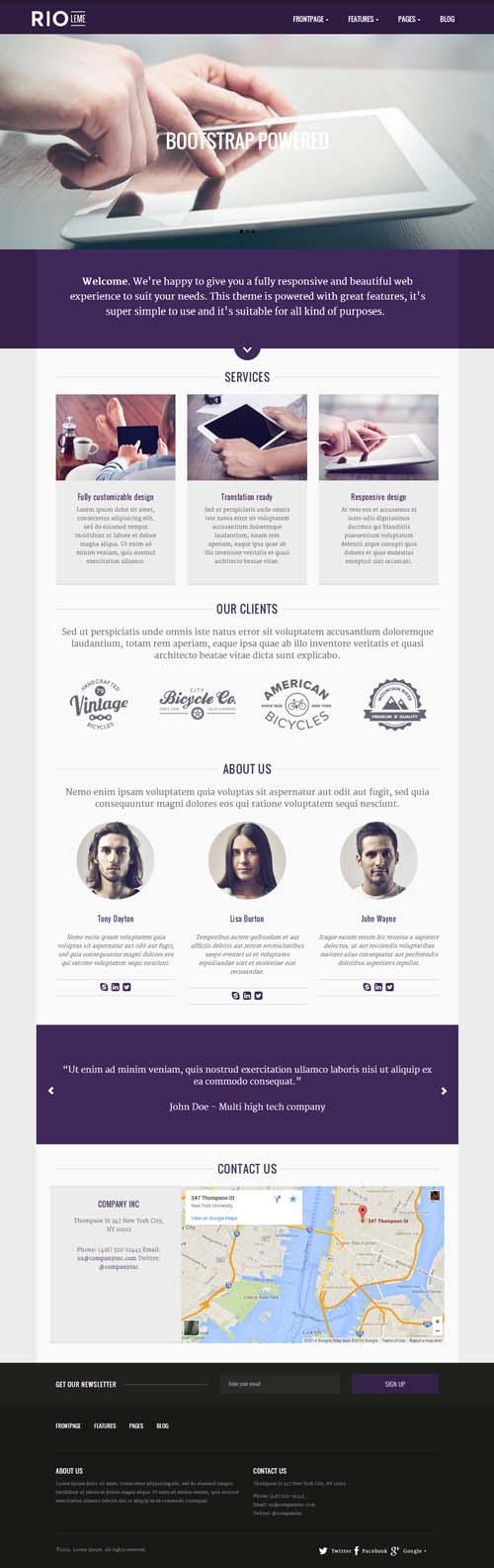 RioLeme - Responsive Multi-Purpose WordPress Theme