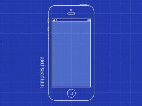 iPhone 5 blueprint vector graphics - 11