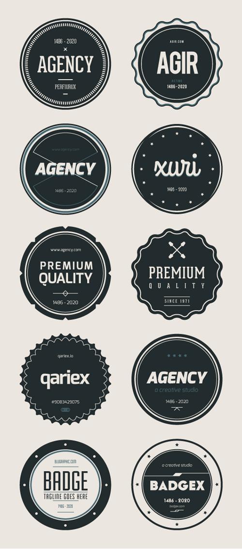 Flat Badges (Ai, Eps) - 14
