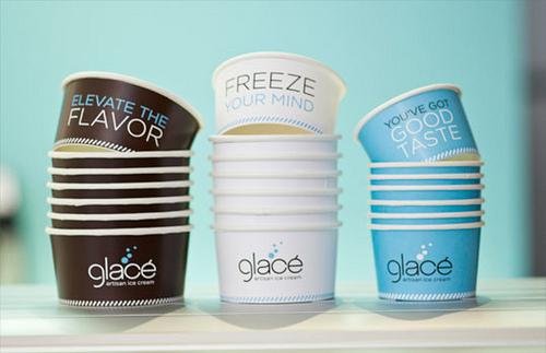 Glace Icecream Packaging Design