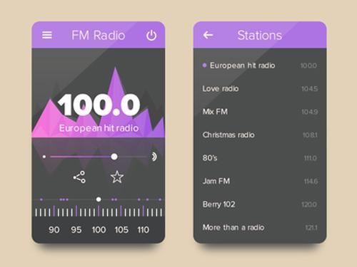 Radio UI PSD